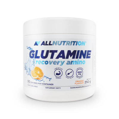 Glutamin, okus pomaranče, 250 g