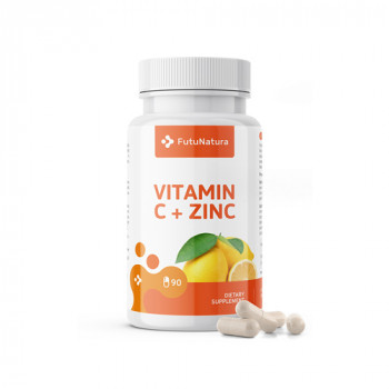 Vitamin C + Cink, 90 kapsul