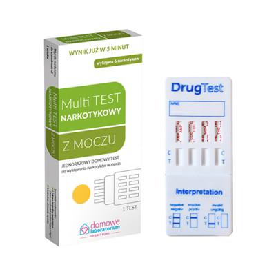 Test na droge iz urina - 6 parametrov