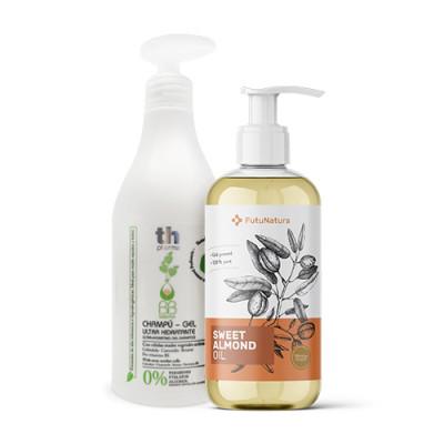 Šampon za občutljivo lasišče + Mandljevo olje