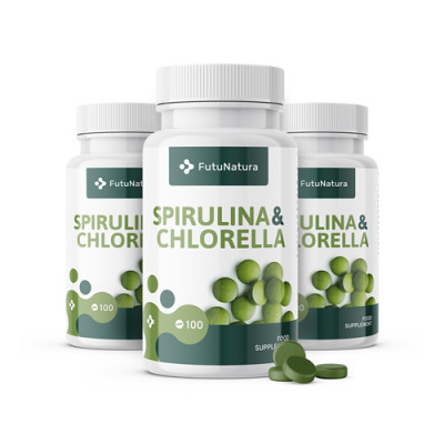 Alge Spirulina in Chlorella