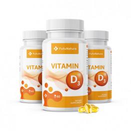 3 x Vitamin D3, 2000 IU, 60 kapsul (skupaj 180 kapsul)