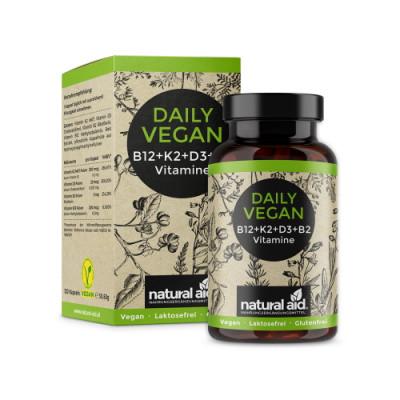 Veganski vitamini B12 + K2 + D3 + B2