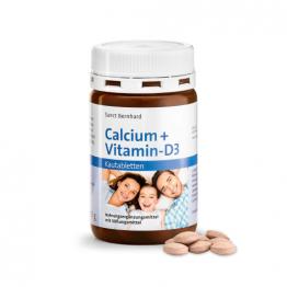 Kalcij + vitamin D3, 150 žvečljivih tablet