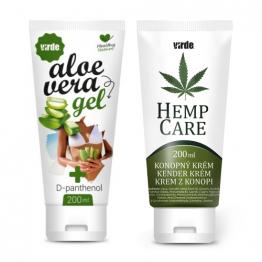 Komplet: Lepa koža (Aloe Vera gel + Konopljina krema)